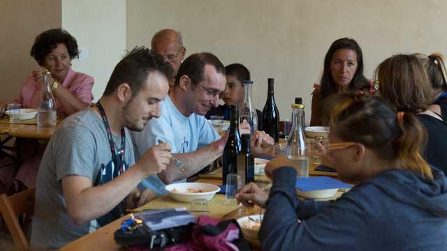 Refettorio - Momento di degustazione dei sapori toscani