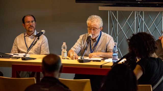 Ernesto Diaco (membro del Comitato organizzatore del Festival) e S.E. Mons. Rodolfo Cetoloni (Vescovo di Grosseto)